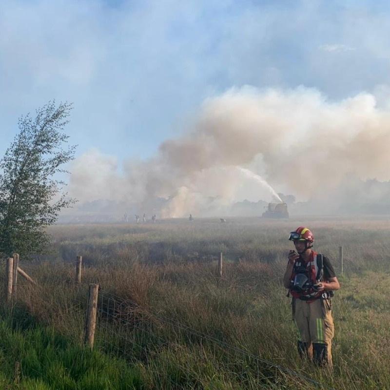Assistentie natuurbrand de Deurnese Peel